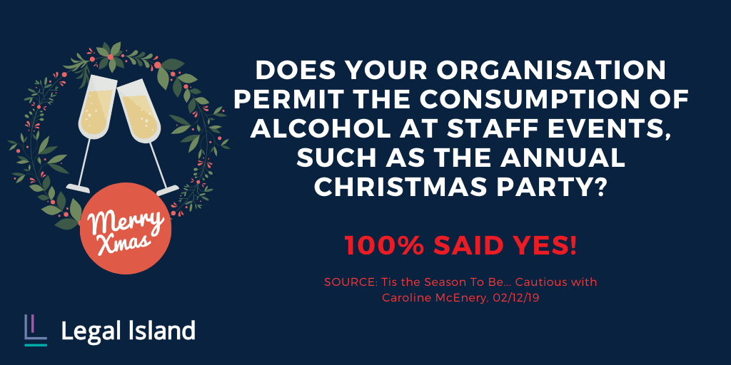 Consumption of alcohol at staff events
